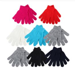 72 Units of Thermaxxx Kids Magic Gloves Assorted Colors - Kids Winter Gloves