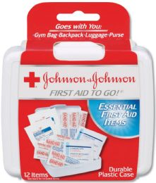 384 Units of Johnson And Johnson 12-Piece Mini First Aid Kit - First Aid and Hygiene Gear