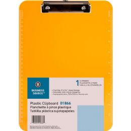 864 Units of Business Source Transparent Plastic Clipboard - Office Clipboards
