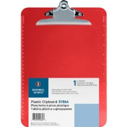 768 Units of Business Source Transparent Plastic Clipboard - Office Clipboards
