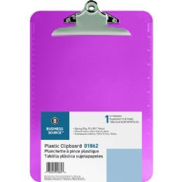 768 Units of Business Source Plastic Clipboard - Office Clipboards
