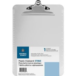 768 Units of Business Source Spring Clip Plastic Clipboard - Office Clipboards
