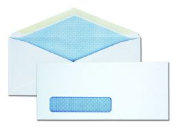 5 Units of #10 Window Security Tinted V-Flap Business Envelopes, Gummed Flap - Envelopes