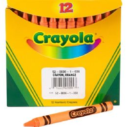 240 Units of Crayola Bulk Crayons - Orange - Crayon
