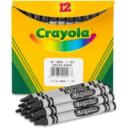 240 Units of Crayola Bulk Crayons - Black - Crayon