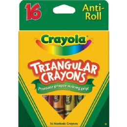 132 Units of Crayola Triangular Anti-roll Crayons - Crayon