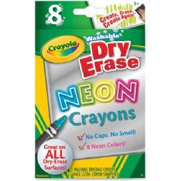 120 Units of Crayola Washable DryErase Neon Crayons - Crayon