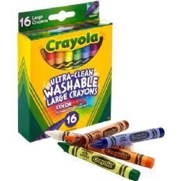 96 Units of Crayola Ultra-Clean Washable Large Crayons - Crayon