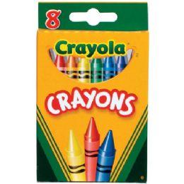 576 Units of Crayola Tuck Box Classic Childrens Crayons - Crayon