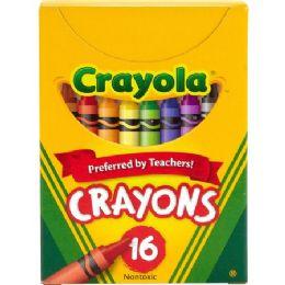 288 Units of Crayola Tuck Box 16 Crayons - Crayon