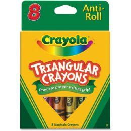 216 Units of Crayola Triangular Anti-roll Crayons - Crayon