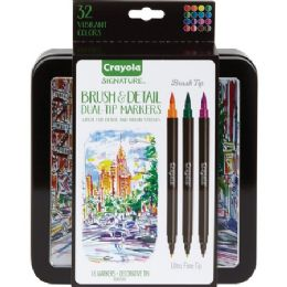 36 Units of Crayola Brush & Detail Dual Tip Markers - Markers
