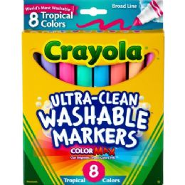 120 Units of Crayola Tropical Colors Pack Washable Markers - Markers