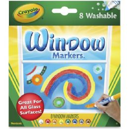 96 Units of Crayola Washable Window Markers - Markers