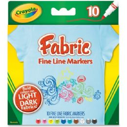 96 Units of Crayola Bright Fabric Markers - Markers