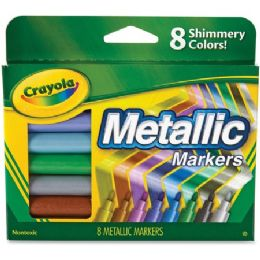 72 Units of Crayola 8-color Metallic Markers - Markers