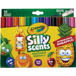 72 Units of Crayola Silly Scents Slim Scented Washable Markers - Markers