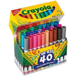 30 Units of Crayola UltrA-Clean Washable Broad Line Markers - Markers
