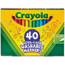 30 Units of Crayola Ultra-Clean Fine Line Washable Markers - Markers