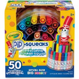24 Units of Crayola Pipsqueaks Marker Tower 50 Mini Markers Washable - Markers