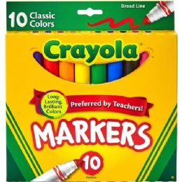 144 Units of Crayola Classic Colors Broad Line Markers - Markers