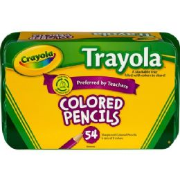 36 Units of Crayola Trayola Colored Pencil Set - Office Supplies