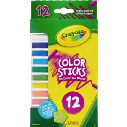 60 Units of Crayola 12 Color Sticks Woodless Colored Pencils - Office Supplies