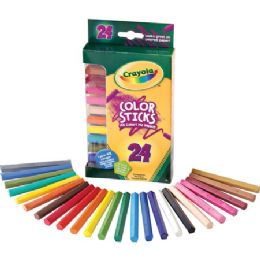 36 Units of Crayola 24 Color Sticks Woodless Colored Pencils - Office Supplies