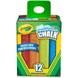 192 Units of Crayola Washable Sidewalk Chalk - Office Supplies