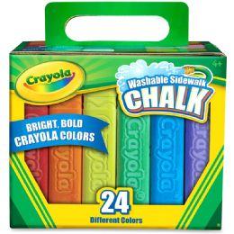 104 Units of Crayola Washable Sidewalk Chalk - Office Supplies