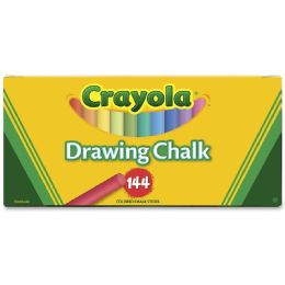 24 Units of Crayola Colored Drawing Chalk Sticks - Office Supplies