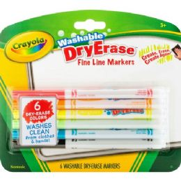 114 Units of Crayola Washable Dry Erase Fine Line Markers - Markers