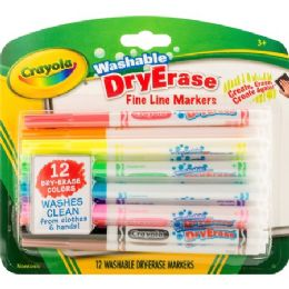 60 Units of Crayola Washable Dry Erase Fine Line Markers - Markers