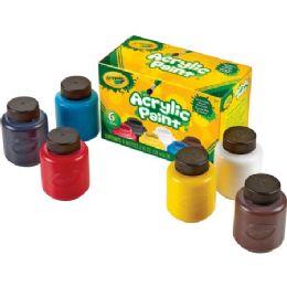 66 Units of Crayola 6-Color Acrylic Paint Set - Paint, Brushes & Finger Paint