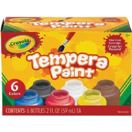 66 Units of Crayola 6-color Tempera Paint - Paint, Brushes & Finger Paint