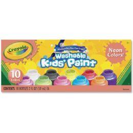 66 Units of Crayola 10-Color Neon Washable Kids Paint - Paint, Brushes & Finger Paint
