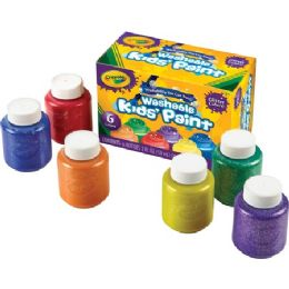 66 Units of Crayola 6-color Glitter Washable Kids Paint - Paint, Brushes & Finger Paint