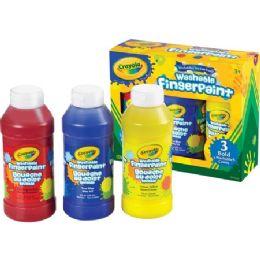 52 Units of Crayola Washable Fingerpaint Bold Colors Set - Paint, Brushes & Finger Paint