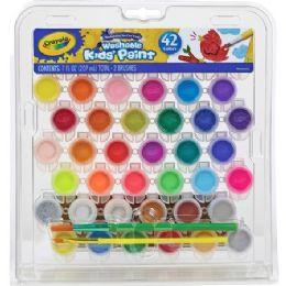 30 Units of Crayola Washable Kids' Paint Set - Paint, Brushes & Finger Paint