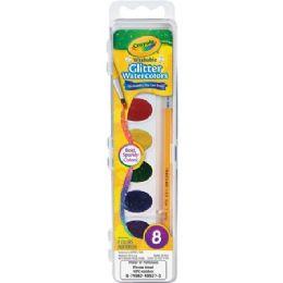 12 Units of Crayola Washable Glitter Watercolors Set - Paint, Brushes & Finger Paint