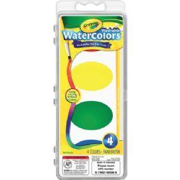 108 Units of Crayola Washable Nontoxic 4 Watercolor Set - Paint, Brushes & Finger Paint