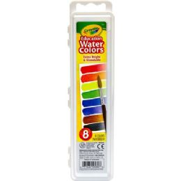 144 Units of Crayola Educational Water Colors Oval Pans - Paint, Brushes & Finger Paint