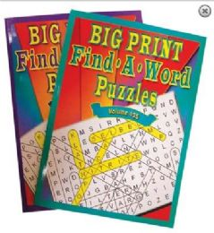48 Units of BIG PRINT 80PG FIND A WORD PUZZLES - Crosswords, Dictionaries, Puzzle books