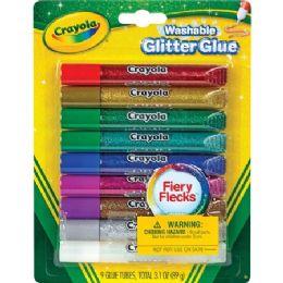 84 Units of Crayola Washable Glitter Glue - Glue