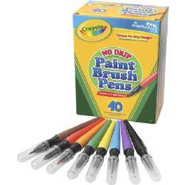 18 Units of Crayola Washable Paint Brush Pens - Crayon
