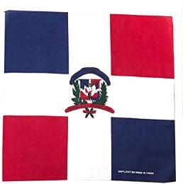 200 Units of Cotton Bandanas In Dominican Flag - Bandanas