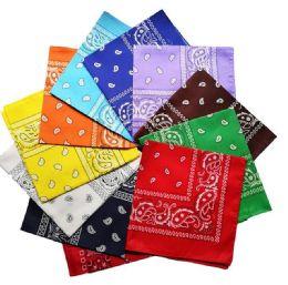 3600 Units of Assorted Cotton Paisley Bandana Mixed Prints, Mixed Colors BULK Bandannas - Bandanas