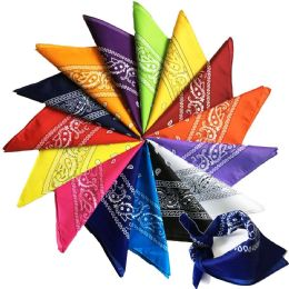 24 Units of Assorted Cotton Bandana Mixed Prints, Mixed Colors Mix Styles Bulk Bandannas - First Aid and Hygiene Gear