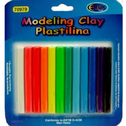 48 Units of Modeling Clay 9oz 12 Colors - Clay & Play Dough