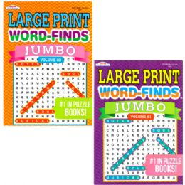 48 Units of Jumbo Large Print Word Finds - Coloring & Activity Books
